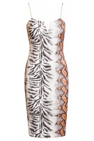 Raina Snake Print Dress Orange